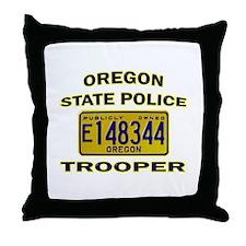 Oregon State Police Throw Pillow