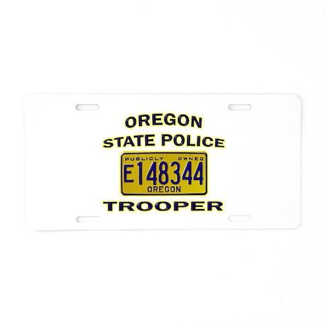 Oregon State Police Aluminum License Plate