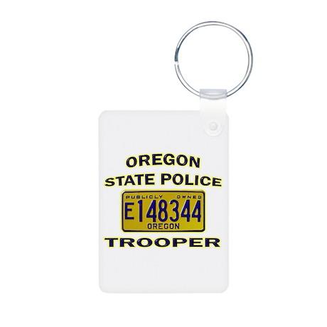 Oregon State Police Aluminum Photo Keychain