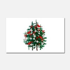 Baseball Christmas Tree Car Magnet 20 x 12
