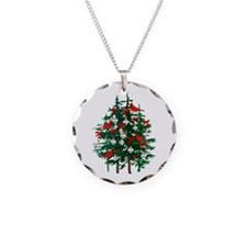 Baseball Christmas Tree Necklace