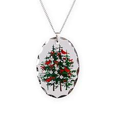 Baseball Christmas Tree Necklace