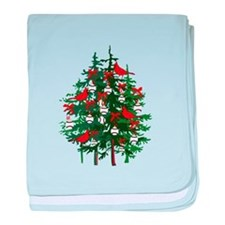 Baseball Christmas Tree baby blanket