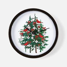 Baseball Christmas Tree Wall Clock