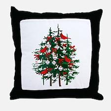 Baseball Christmas Tree Throw Pillow