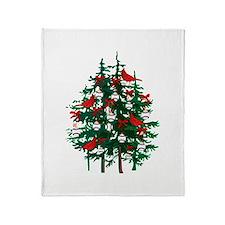 Baseball Christmas Tree Throw Blanket