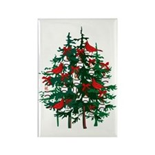 Baseball Christmas Tree Rectangle Magnet