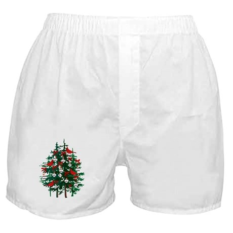 Baseball Christmas Tree Boxer Shorts