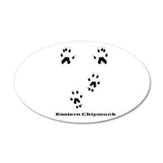 Eastern Chipmunk Tracks Pawpr 22x14 Oval Wall Peel
