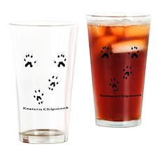 Eastern Chipmunk Tracks Pawpr Drinking Glass
