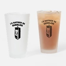 I'd rather be gambling Drinking Glass