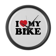 I love my bike Large Wall Clock