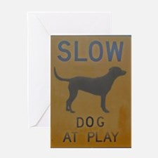 dog at play Greeting Card