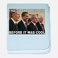 Old School President Hater baby blanket