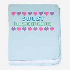 Sweet ROSEMARIE baby blanket
