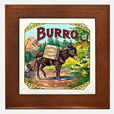 Burro Cigar Label Framed Tile