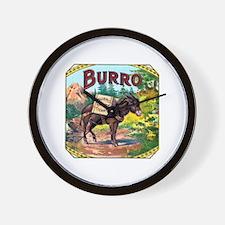 Burro Cigar Label Wall Clock