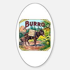 Burro Cigar Label Decal