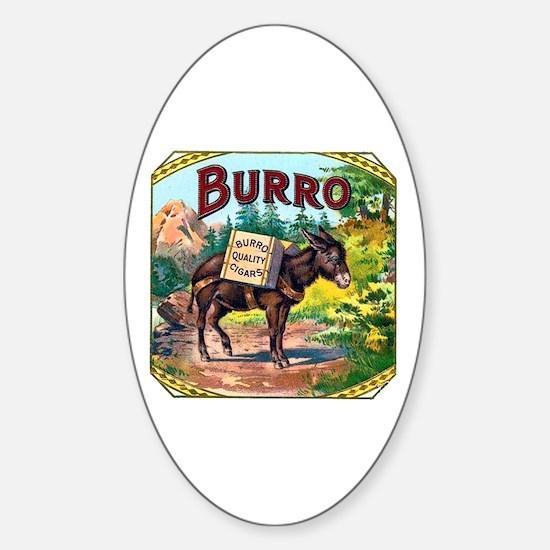 Burro Cigar Label Sticker (Oval)