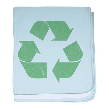 Vintage Recycle Logo baby blanket
