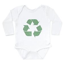 Vintage Recycle Logo Long Sleeve Infant Bodysuit