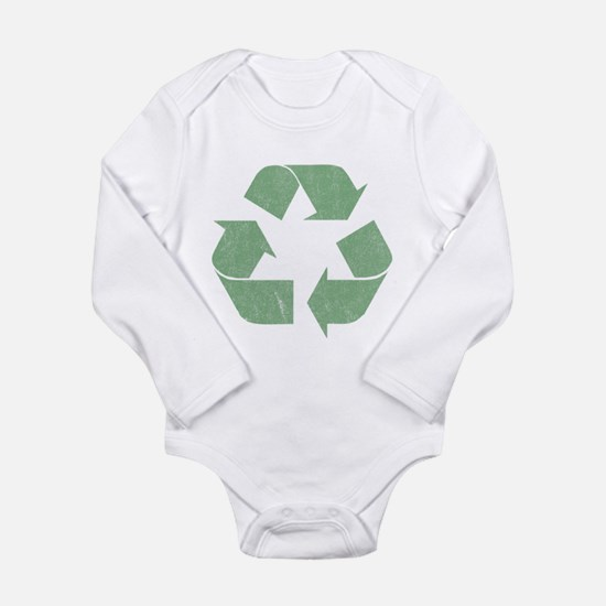 Vintage Recycle Logo Long Sleeve Infant Bodysuit