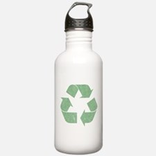 Vintage Recycle Logo Water Bottle