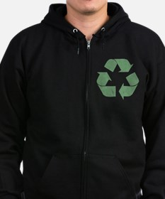 Vintage Recycle Logo Zip Hoody