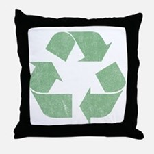 Vintage Recycle Logo Throw Pillow