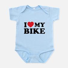 I love my bike Infant Bodysuit