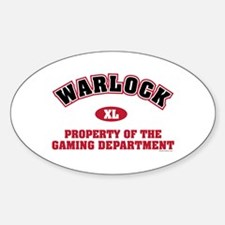 Warlock Gaming Dept Oval Decal
