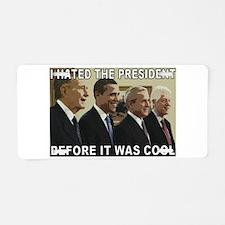 Old School President Hater Aluminum License Plate