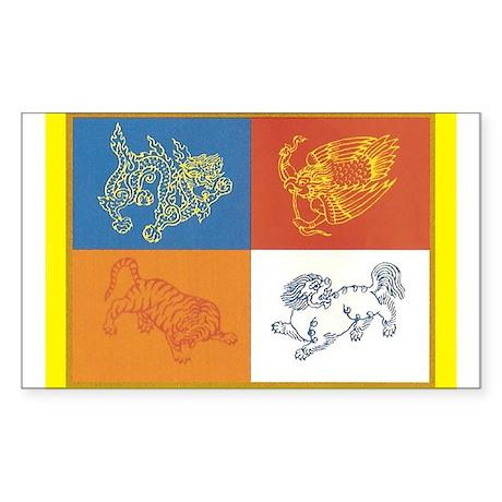 Four Dignities Rectangle Sticker