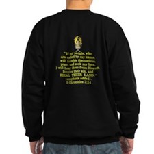 2 Chr 7:14 Gold Cross - Sweatshirt