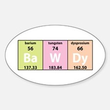 Chemical Bawdy Oval Decal