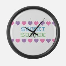 Sweet SOPHIE Large Wall Clock