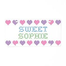 Sweet SOPHIE Aluminum License Plate