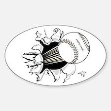 Softball Burst Oval Decal
