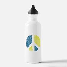 Vintage Peace Sign Water Bottle