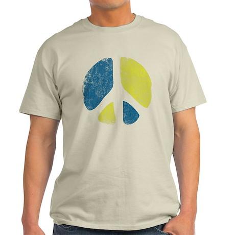 Vintage Peace Sign Light T-Shirt