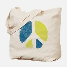 Vintage Peace Sign Tote Bag