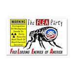 """""""The Flea Party"""" Car Magnet 20 x 12"""