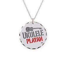 Ukulele Playah Necklace Circle Charm