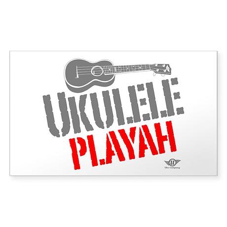 Ukulele Playah Sticker (Rectangle)