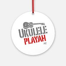 Ukulele Playah Ornament (Round)