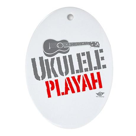Ukulele Playah Ornament (Oval)