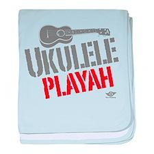 Ukulele Playah baby blanket