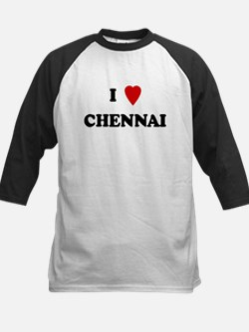 I Love Chennai Kids Baseball Jersey
