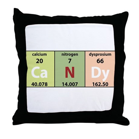 Chemical Candy Throw Pillow