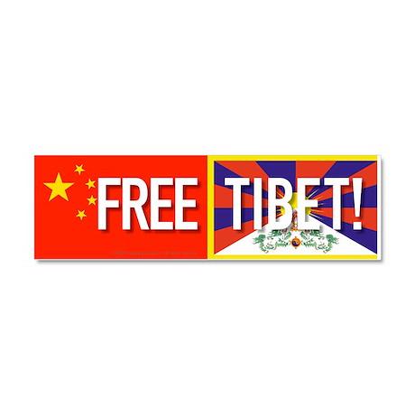 Free Tibet Car Magnet 10 x 3